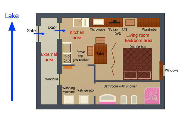 Annina's House Studio internal layout